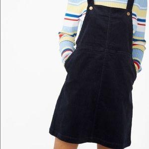 monki blue overall dress